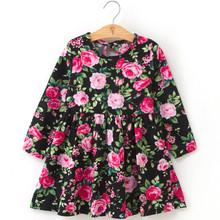 Летнее платье для девочек детское платье в клетку с длинными рукавами для девочек летние платья принцессы из мягкого хлопка Одежда для мале...(Китай)