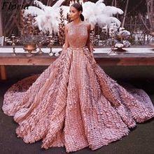 Женское вечернее платье с красной ковровой дорожкой, розовое блестящее платье знаменитости из Дубая, 2020(Китай)