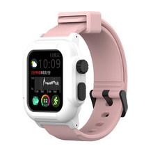 Спортивный водонепроницаемый ремешок для Apple Watch Band 5 4 Band 38 мм 42 мм Iwatch Series 5 4 Band 40 44 мм силиконовый браслет(Китай)