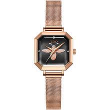 TDO женские часы 2020 квадратные модные часы zegarek damski роскошные женские часы-браслет для женщин часы с кожаным ремешком(Китай)