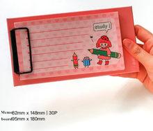 Папка для записей с клипсой для блокнота, бумажный зажим для документов, папка для блокнота, держатель для файлов, офисный картон(Китай)