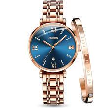 JSDUN, женские часы, Топ бренд, Роскошные, модные, повседневные, розовое золото, нержавеющая сталь, полоса, кварцевые, водонепроницаемые наручн...(China)
