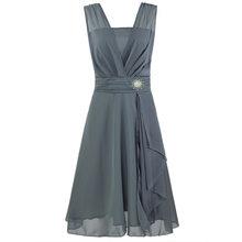 Женское платье подружки невесты большого размера, летнее короткое платье, платье подружки невесты ROM80185(Китай)