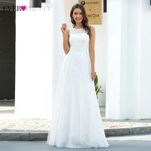 Элегантные свадебные платья Ever Pretty EP00645, белые платья трапециевидной формы без рукавов, кружевные Длинные свадебные халаты, 2020(China)