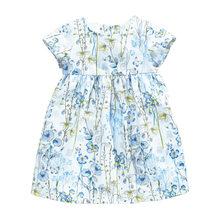 Little maven/Летнее белое платье принцессы для маленьких девочек от 2 до 7 лет Детское нарядное элегантное платье одежда с единорогом(Китай)
