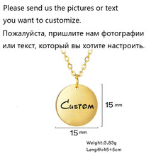 Teamer Галактика Звезда Луна ожерелье на заказ фото ожерелья для женщин из нержавеющей стали желаю волшебных драгоценностей дружба подарки(Китай)