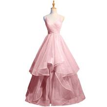 Женское вечернее платье с открытой спиной, сексуальное платье с v-образным вырезом без рукавов, вечерние платья для выпускного вечера, 2020(Китай)