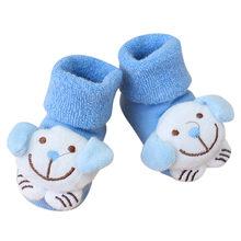 Теплые нескользящие носки с рисунком для новорожденных девочек и мальчиков; тапочки; спортивные кроссовки; Детский костюм(China)
