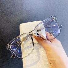 YOOSKE анти-синий светильник, оправа для очков, женские большие очки, модные прозрачные оптические очки, компьютерные очки унисекс(Китай)