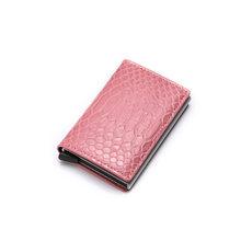 DIENQI Анти-Вор Rfid Блокировка ID кредитный держатель для карт кошелек Тонкий Бизнес наличные банк держатель для карт кожаный металлический бум...(Китай)
