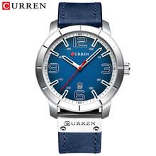 Мужские часы 2019 CURREN Мужские кварцевые наручные часы мужские часы лучший бренд роскошные кожаные Наручные часы с календарем(Китай)
