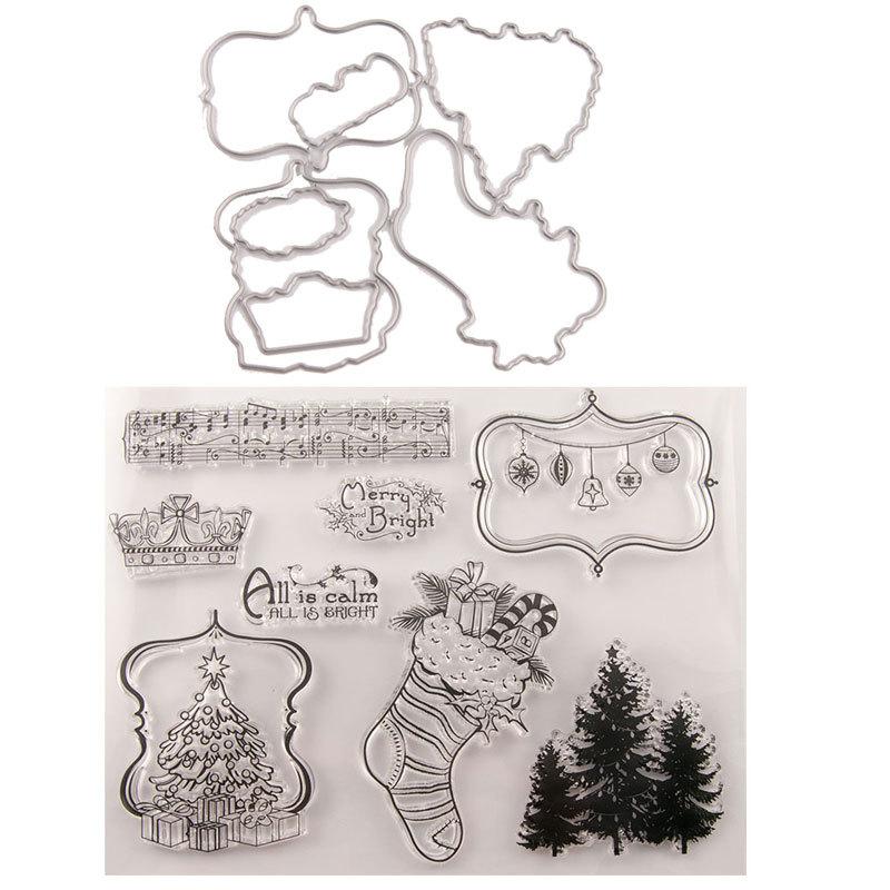 25 стилей кленовый лист, прозрачные штампы для резки, альбом для скрапбукинга, Рождественская открытка, бумага для рукоделия, силиконовый ре...(Китай)