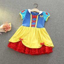 Одежда для маленьких девочек; платье Минни, единорога, Анны, Белоснежки, Эльзы, Софии; детская одежда; летний повседневный костюм; платья для ...(Китай)