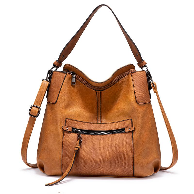 Женская сумка через плечо REALER, серая сумка через плечо из искусственной кожи, 2020(Китай)
