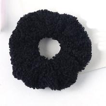 Женская бархатная резинка для волос с искусственным мехом, аксессуар для волос с хвостиком, 2019(Китай)