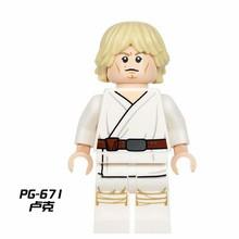 Фигурки Звездные войны йода Дарт Вейдер люк Лея Хан Solo Rey Finn Obi-Wan C-3PO Trooper Звездные войны строительные блоки экшн-фигурка игрушки(Китай)