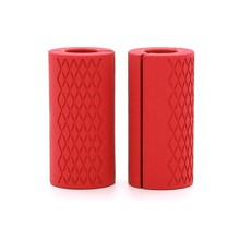 1 пара Штанги Гантели Нескользящие толстые жировые ручки силиконовая резина для гантелей толстые ручки для штанги(China)