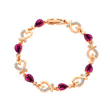 Модный летний Новый Модный популярный круглый Кристальный ювелирный браслет и браслеты для женщин золотые браслеты для женщин SZ5(Китай)