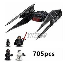 Lepining Звездные войны заказ Poe х игрушки крыло боец строительный блок кирпичи черный Ace TIE Interceptor Starwars 75101 7524075102(China)
