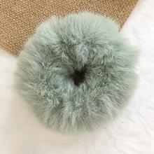 Новые мягкие эластичные резинки для волос из искусственного кроличьего меха для женщин и девочек, милые резинки для хвоста, модные аксессуа...(Китай)