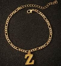 Jisensp винтажные A-Z браслеты с буквенным принтом для женщин и девочек, браслет с алфавитом из нержавеющей стали, ювелирные изделия(Китай)