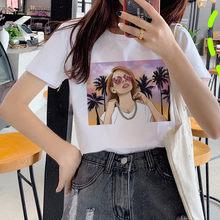Женская футболка с забавным принтом Lana Del Rey Harajuku Ullzang, футболка для фанатов, 90s, с графическим дизайном, в Корейском стиле(China)