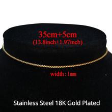 Панк кубинское колье-чокер, массивное ожерелье в стиле хип-хоп из нержавеющей стали золотистого цвета, Женская цепочка, ювелирные изделия(Китай)
