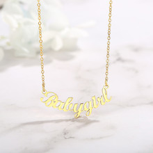 Vnox заказное именное ожерелье индивидуальная именная табличка кулон для женщин серебряный золотой цвет(Китай)