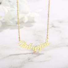 """Vnox именное ожерелье персонализированный шрифт имя пластина кулон женское ювелирное изделие от 14 """"до 22"""" цепь(Китай)"""