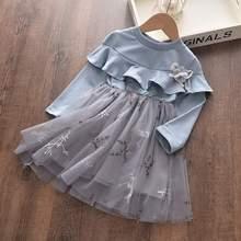 Платье для девочек bear leader, весеннее, повседневное, стильное, с рисунком, розовое, с длинным рукавом, из шерсти, с бантом, платье принцессы, оде...(Китай)