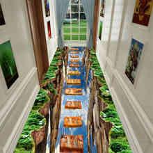 3D Забавный ковер для коридора, спальни, кухни, детской комнаты, декоративный игровой коврик, пасторальный ковер для гостиной(Китай)