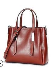 Модные Простые Сумки из натуральной кожи на одно плечо, сумки-мессенджеры с кисточками, большая емкость, роскошные женские сумки, сумки-тоут...(Китай)