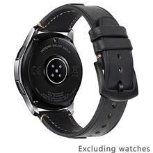 Ремешок для часов из воловьей кожи 22 мм для samsung Galaxy watch 46 мм для Huawei watch GT 22 мм женские Ремешки для наручных часов мужские ремешки для быстрого...(China)
