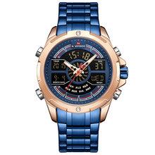 NAVIFORCE часы для мужчин Топ люксовый бренд бизнес кварцевые мужские часы из нержавеющей стали водонепроницаемые наручные часы Relogio Masculino(Китай)