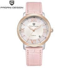 Женские повседневные кварцевые часы PAGANI, розовые элегантные кожаные водонепроницаемые часы с кожаным чехлом, модель 2020(Китай)