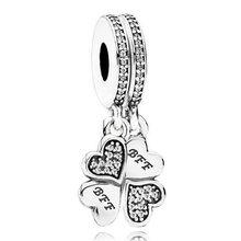 Оригинальный кулон с сердечками для мамы и дочки, браслет Pandora из стерлингового серебра 925 пробы, очаровательные ювелирные изделия(Китай)