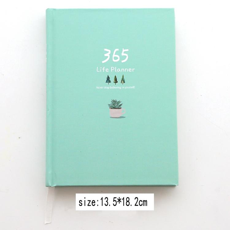 Свежие 365 дней записная книжка в твердом переплете дневник планировщик недатированный ежедневник планировщик 2020 блокнот-скетчбук Канцеляр...(Китай)