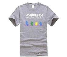Новинка 2020, футболка Queen Hot Space Tour, мужские футболки Funko Pop, хлопковые футболки с круглым вырезом, большие размеры, Мужская футболка с коротким ...(Китай)