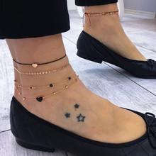 Богемные звезды оболочки лодыжки браслет на ногу ювелирные изделия простой оболочки лодыжки для женщин пляж очарование Бохо аксессуары Mujer(Китай)