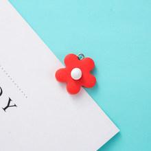 10 шт красочные цветочные амулеты мягкая глина DIY аксессуары брелок Шарм для женщин детей серьги браслет ожерелье подвеска(Китай)