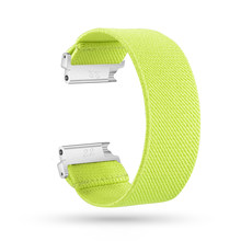 Новый эластичный ремешок для Fitbit Versa/Versa 2/Versa Lite браслет нейлоновый ремешок для часов для мужчин и женщин браслет Спортивные ремни(China)