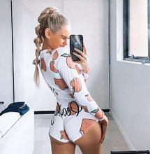 Женские сексуальные пижамы, комбинезон с глубоким v-образным вырезом, облегающее боди, одежда для сна с рисунком, женские пижамы, комбинезон,...(Китай)