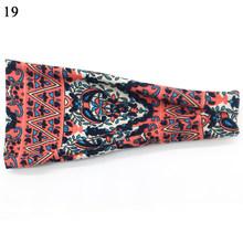 Богемная Женская эластичная лента для волос из хлопка с цветочным принтом, повязка для головы с принтом змеи, широкая повязка на голову, лео...(Китай)