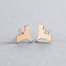 Классические открытые круглые серьги-гвоздики Todorova из нержавеющей стали, женские сережки oorbellen, модные аксессуары Bronics(Китай)