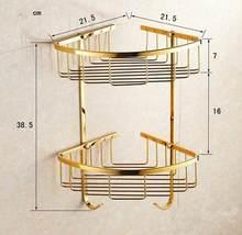 Золотой полированный латунный и хрустальный настенный набор аксессуаров для ванной комнаты, вешалка для полотенец, Полка для полотенец, де...(Китай)