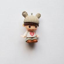 2 шт., милая сумка-кукла для девочек и мальчиков, подвеска, подвески, серьги, брелок, ожерелье, аксессуары для самостоятельного изготовления ю...(Китай)