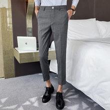 Мужские костюмные брюки, брюки для свадебного платья, повседневные деловые брюки с вышивкой в виде короны для офиса, Pantalon Homme Classique, 2020(Китай)