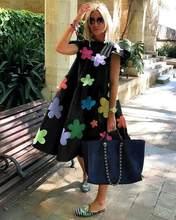 Z-ZOUX женское платье с коротким рукавом Плиссированные Длинные платья модное богемное платье однотонные свободные летние платья размера плю...(Китай)