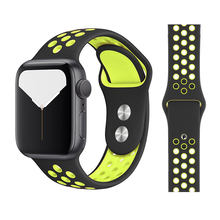 Ремешок для часов Aplle band 5 4 3 Band 38 мм 40 мм силиконовый браслет 42 мм 44 мм резиновый ремешок для серии 4 3 2 Band Wristband(Китай)