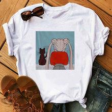 Сейлор футболка Луна мягкая девушка эстетическое аниме одежда летняя одежда для женщин Хиппи Белый Топ уличная одежда футболка с рисунком(China)